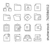 folder and file icons | Shutterstock .eps vector #763586512