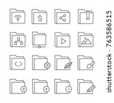 folder and file icons | Shutterstock .eps vector #763586515