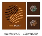 set vector logo. abstract... | Shutterstock .eps vector #763590202
