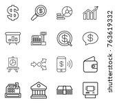 thin line icon set   dollar ... | Shutterstock .eps vector #763619332
