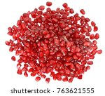 pomegranate with scattered... | Shutterstock . vector #763621555