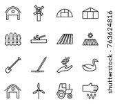 thin line icon set   barn ... | Shutterstock .eps vector #763624816