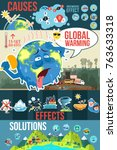 a vector illustration of global ... | Shutterstock .eps vector #763633318