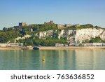 white cliffs of dover  castle... | Shutterstock . vector #763636852