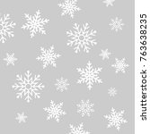 snowflakes on beautiful... | Shutterstock .eps vector #763638235