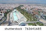 aerial panorama valencia | Shutterstock . vector #763641685