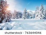 scenic image of fairy tale... | Shutterstock . vector #763644046