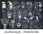cute forest animals set  ...