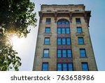 old colonial architecture in a... | Shutterstock . vector #763658986