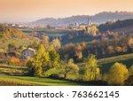 Castelvetro hills with colorful vineyards, Modena, Emilia Romagna Italy