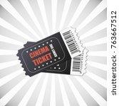 vector two designed cinema... | Shutterstock .eps vector #763667512