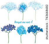 vector set with outline forget... | Shutterstock .eps vector #763668682