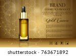 realistic 3d cosmetic design... | Shutterstock .eps vector #763671892