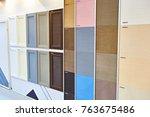 decorative facade panels for... | Shutterstock . vector #763675486