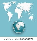 globe icon with smooth vector... | Shutterstock .eps vector #763680172