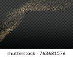 gold glitter texture on a... | Shutterstock .eps vector #763681576