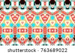 colorful textured pattern for... | Shutterstock . vector #763689022
