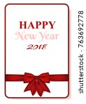 postcard or gift card with red... | Shutterstock .eps vector #763692778