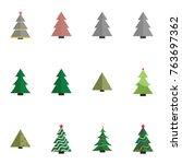 christmas tree vector... | Shutterstock .eps vector #763697362