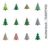 christmas tree vector... | Shutterstock .eps vector #763697452