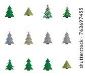 christmas tree vector... | Shutterstock .eps vector #763697455