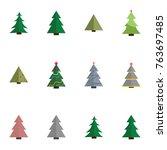 christmas tree vector... | Shutterstock .eps vector #763697485
