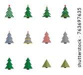 christmas tree vector... | Shutterstock .eps vector #763697635