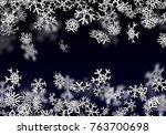 snowfall background. falling... | Shutterstock .eps vector #763700698