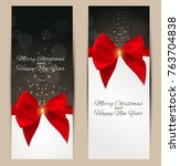 abstract beauty christmas and... | Shutterstock .eps vector #763704838