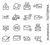 set of premium letter icons in... | Shutterstock .eps vector #763708966