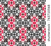colorful symmetrical pattern... | Shutterstock . vector #763710568