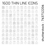 exclusive 1600 thin line icons... | Shutterstock .eps vector #763712206