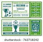 soccer championship 2018 or... | Shutterstock .eps vector #763718242