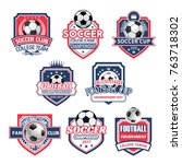 soccer college league... | Shutterstock .eps vector #763718302