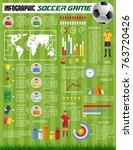 soccer game pr football sport... | Shutterstock .eps vector #763720426