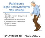 illustration about parkinson's... | Shutterstock .eps vector #763720672