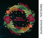feastive season artwork....   Shutterstock .eps vector #763736482