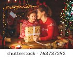 a happy family mother and child ... | Shutterstock . vector #763737292