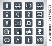 award and honor icon set | Shutterstock .eps vector #763740778