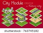 city module builder constructor ...   Shutterstock .eps vector #763745182