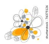 artistic floral corner | Shutterstock .eps vector #76375126