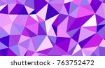 abstract triangular low poly... | Shutterstock . vector #763752472