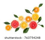 Citrus Fruits Isolated On White ...
