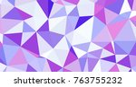 abstract triangular low poly... | Shutterstock . vector #763755232