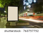 blank advertisement mock up ... | Shutterstock . vector #763757752