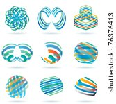 vector abstract signs for... | Shutterstock .eps vector #76376413
