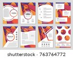 abstract vector layout... | Shutterstock .eps vector #763764772