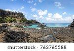 baia dos porcos beach and...   Shutterstock . vector #763765588