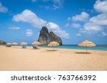 beach umbrellas at cacimba do...   Shutterstock . vector #763766392
