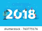 happy new year concept card.... | Shutterstock .eps vector #763775176
